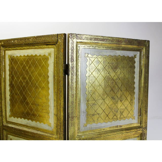 Vintage Florentine 3 Panel Screen - Image 10 of 11