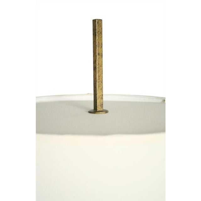 White Gilt Wrought Iron Candelabra Floor Lamp by Tommi Parzinger For Sale - Image 8 of 9