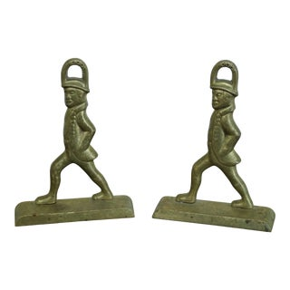 Virginia Metalcrafters Colonial Williamsburg Cw-8-7 Brass Bookends - a Pair For Sale
