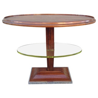 1930s Art Deco Oval Occasional Table For Sale