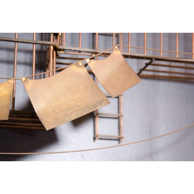 AMAZING MONUMENTAL CURTIS JERE NEW YORK CITY FIRE ESCAPE SCENE WALL SCULPTURE For Sale In Philadelphia - Image 6 of 6