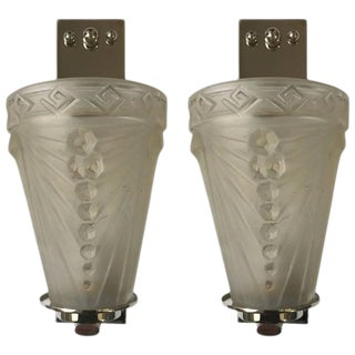 Schneider French Art Deco Sconces by - a Pair For Sale