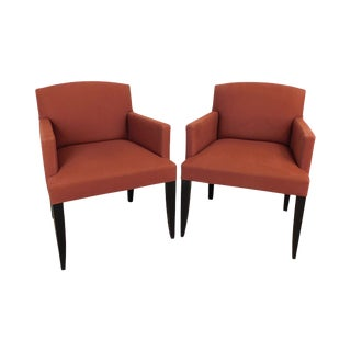 Modenature Classic Modern French Art Deco Style Pair Bergere Chairs (A) For Sale