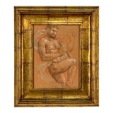 Image of Circa 1950 Drawing in Classical Style For Sale