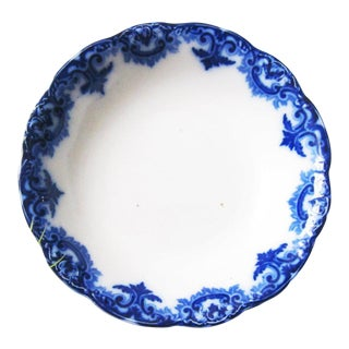 1890s Flow Blue 'Gladys Nwp' Serving Bowl For Sale