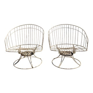 Vintage Homecrest Wrought Iron Chairs - A Pair For Sale