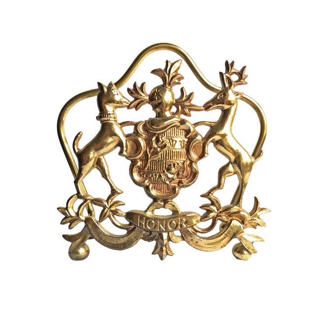 Vintage Italian Brass Letter Holder - Image 1 of 3
