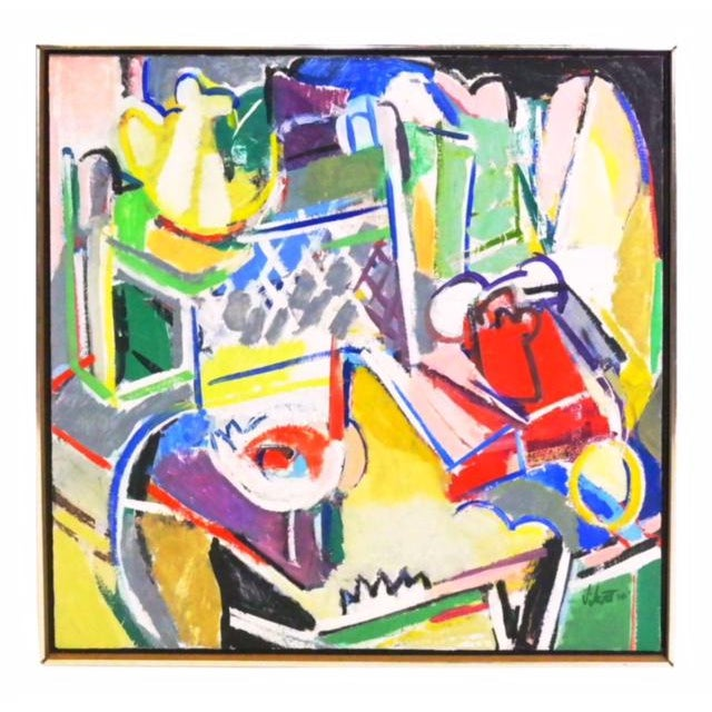 Oil Paint Last Call Telephone Still Life Painting by Susan Scott 1976 For Sale - Image 7 of 7