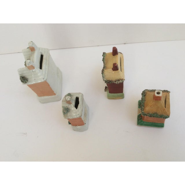 Staffordshire House Banks - Set of 4 For Sale - Image 5 of 9
