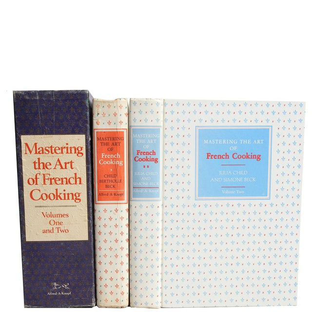 """1970s 1974 """"Mastering the Art of French Cooking Vols I & II in Slipcase"""" Coffee Table Book For Sale - Image 5 of 6"""