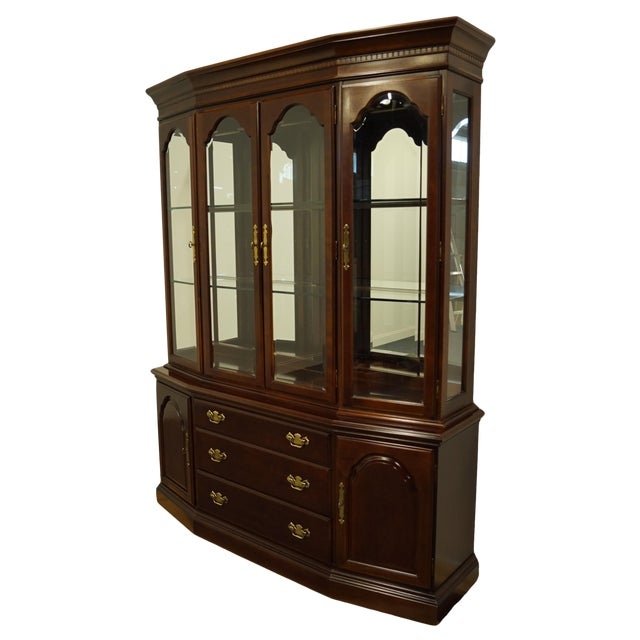 Bernhardt Furniture Traditional Solid Cherry China Cabinet For Sale
