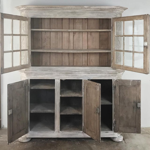 19th Century Country French Rustic Whitewashed Bookcase ~ Cabinet For Sale - Image 4 of 13