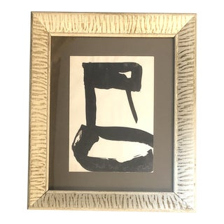 """Vintage Robert Cooke Original Abstract """"Black Duck"""" Painting 1970's For Sale"""