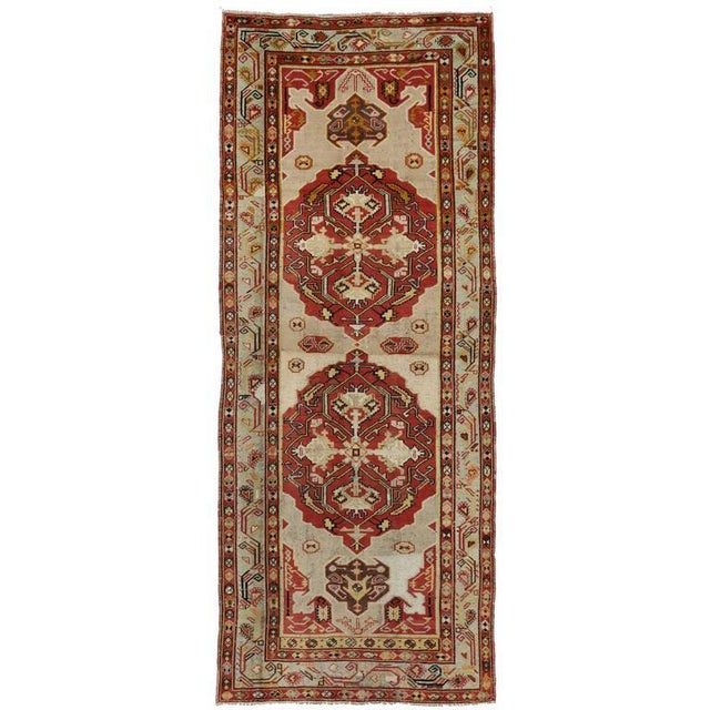 Vintage Mid-Century Turkish Oushak Runner Rug - 4′4″ × 10′11″ For Sale In Dallas - Image 6 of 6