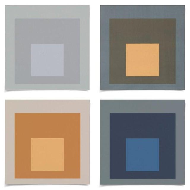 Modern Color Squares, Set of 4, Unframed Artwork For Sale In Los Angeles - Image 6 of 6