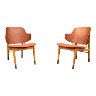 Vintage Danish Modern Kofod Larsen Penguin Chairs- A Pair For Sale