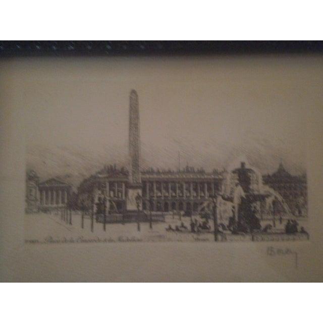 Henri Be'rengier Signed Paris Engraving - Image 3 of 8