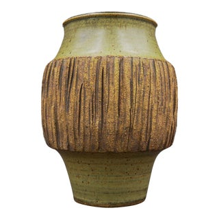 Mid Century Joel Edwards Pottery Vase For Sale