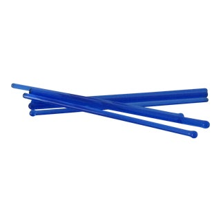 Cobalt Glass Drink Stirrers - Set of 6