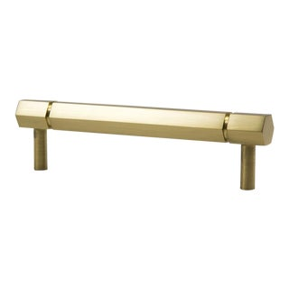 Facet-01 Satin Brass Handle For Sale
