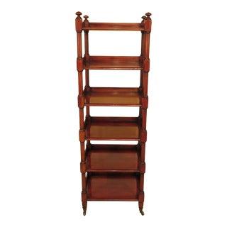 Baker Milling Road 6 Tier Mahogany Etagere Bookshelf For Sale