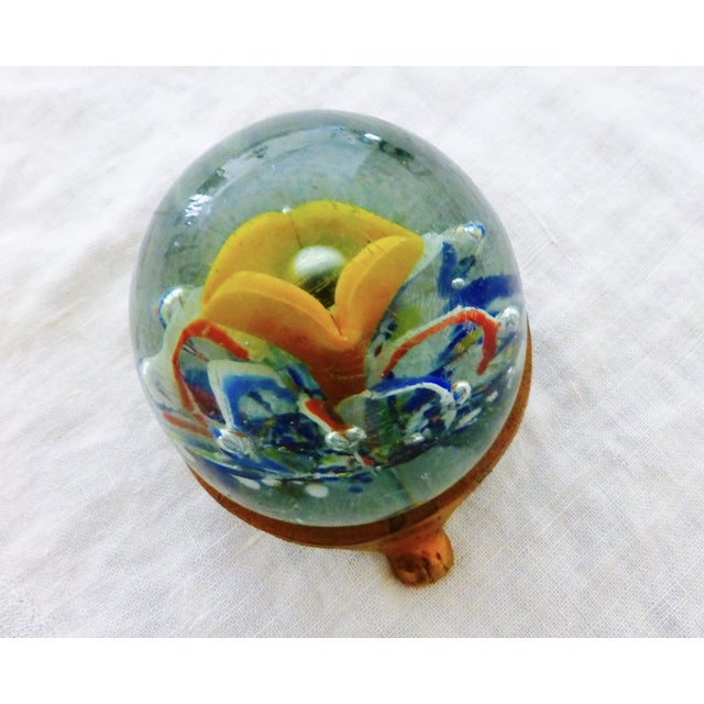 Handblown Glass Paperweight with Stand - Image 2 of 6