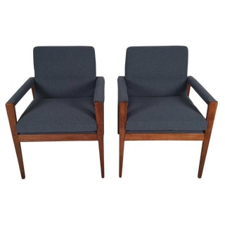 1950s Vintage Jens Risom Chairs- A Pair For Sale