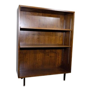 Nucraft Walnut Veneer Bookshelf Mid Century Modern For Sale