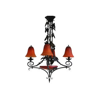 French Art Deco Charles Schneider Chandelier For Sale