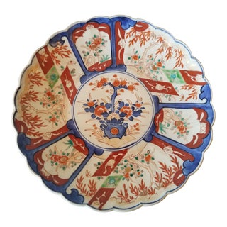 Antique 1880s Imari Porcelain Platter For Sale