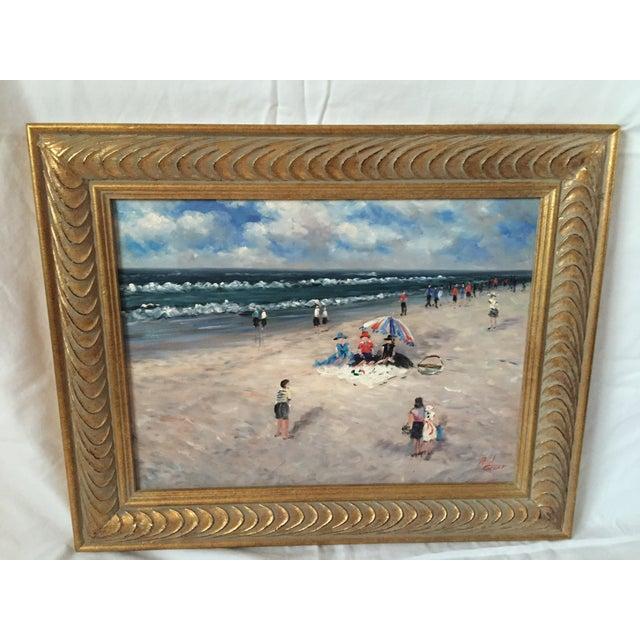 Paul Grant Impressionist Oil Seaside Painting - Image 2 of 4