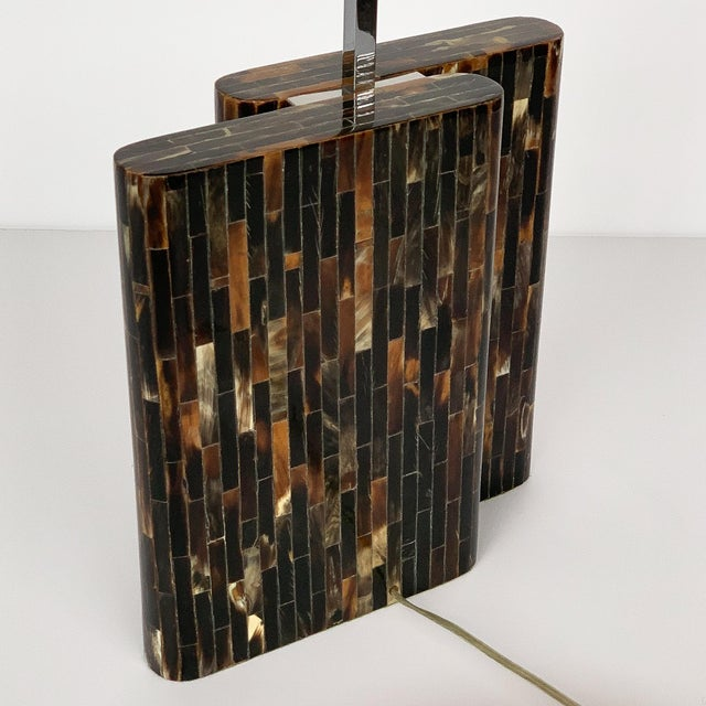 Enrique Garcel Tessellated Horn Table Lamp For Sale - Image 12 of 13