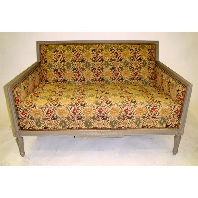 Louis XVI Style Painted Love Seat - Image 2 of 7