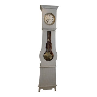 Antique French Painted Grandfather Clock For Sale
