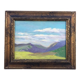 Landscape Painting on Canvas by Cj Martin, Framed For Sale