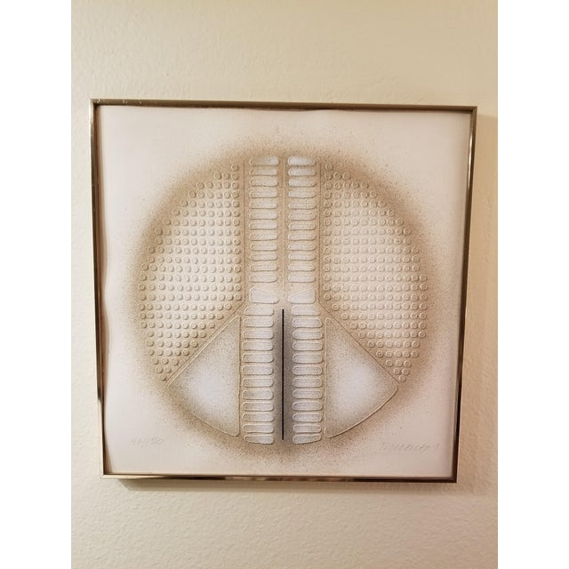 """""""Peace Art"""" Acrylic Stencil Casting Print For Sale - Image 11 of 11"""