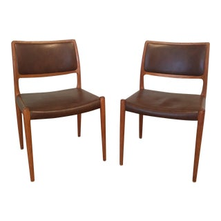 Moller Model 80 Dining Chairs - A Pair