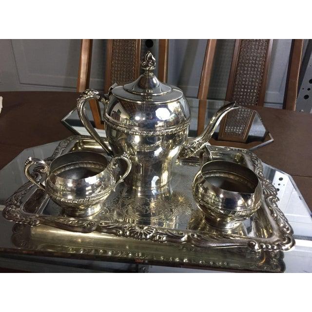 Art Nouveau Art Nouveau Silver-Plate Tea Set - 4 Pc. Set For Sale - Image 3 of 11