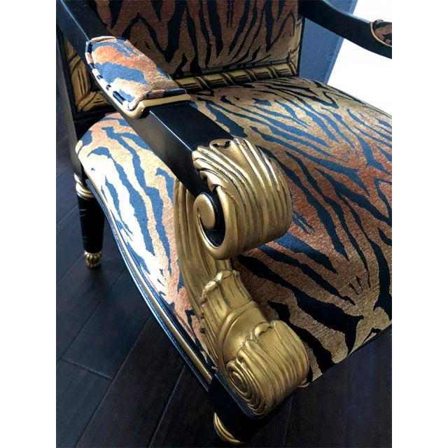 Mid 19th Century Tiger Pattern Empire Style Chair For Sale - Image 5 of 8
