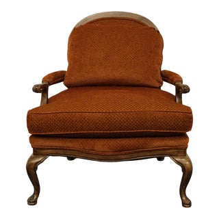 Hickory Furniture Highland House Rust Red Upholstered Bergere Arm Chair For Sale