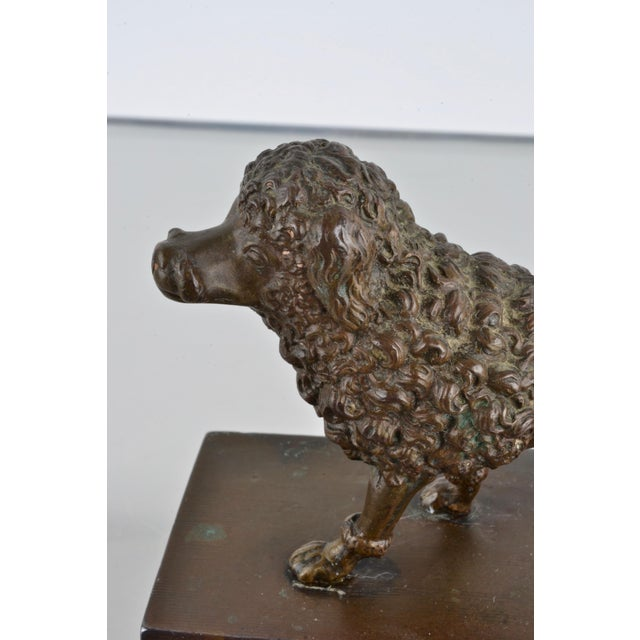 Gold Bronze Poodle Inkwell, France 19th Century For Sale - Image 8 of 12