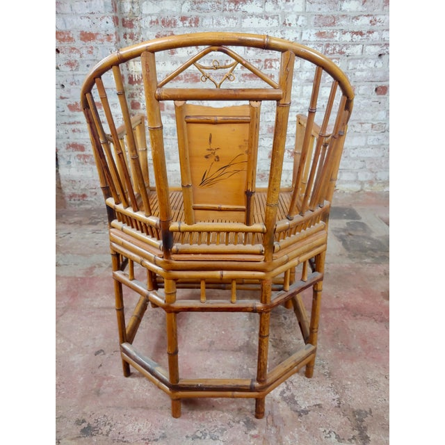 Asian Brighton Pavilion Chinoiserie Chippendale Bamboo Armchairs Circa 1920s - A Pair For Sale - Image 3 of 10