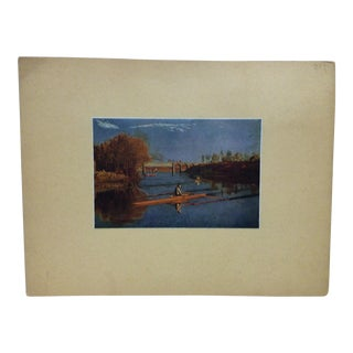 "Vintage ""Max Schmitt in a Single Scull"" Mounted Print by Thomas Eakins For Sale"