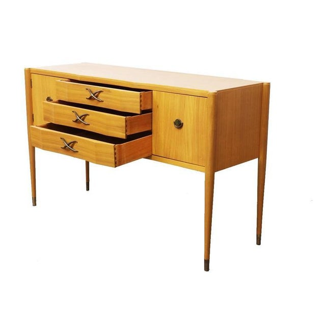 Rare Brown Saltman Bleached Mahogany Credenza by Paul Frankl - Image 3 of 4