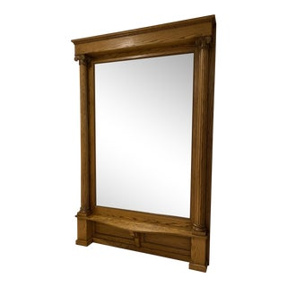 Vintage Wall Sized Hall Mirror and Bench For Sale