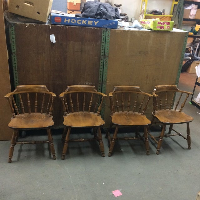 1950s Vintage Nichols and Stone Chairs- Set of 4 For Sale - Image 13 of 13