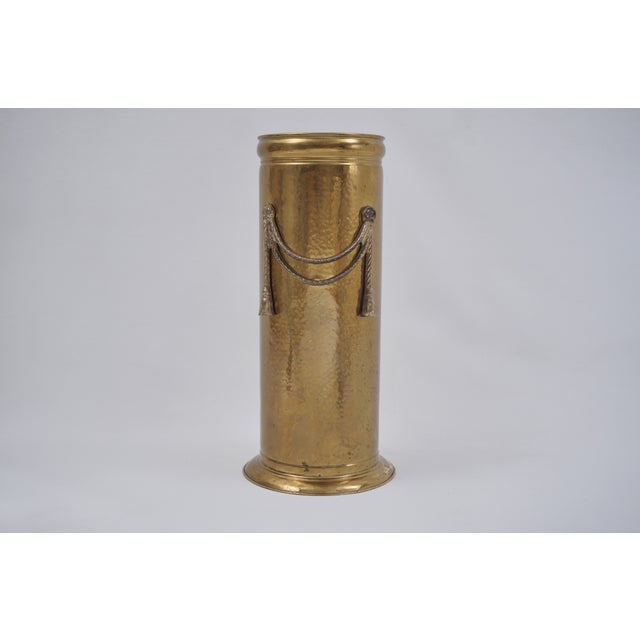 Vintage Brass Umbrella Stand by Peerage For Sale - Image 12 of 12