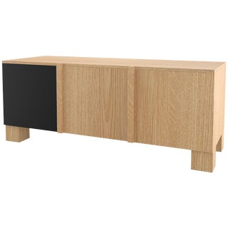 Contemporary 101 Sideboard in Oak and Black by Orphan Work, 2019 For Sale