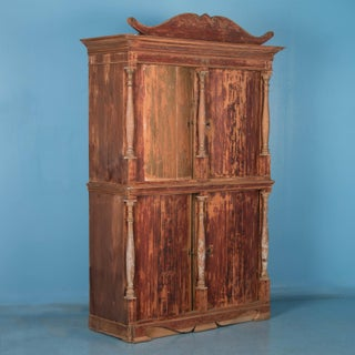 19th Century Antique Danish Pine Bow Front Four-Door Armoire Preview