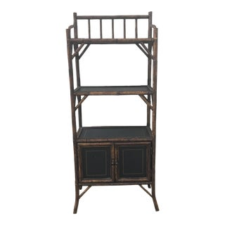 1930's Vintage Three-Tier Bamboo Etagere For Sale